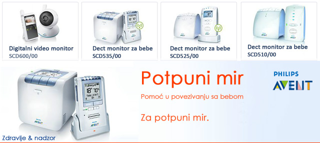 Philips Avent bebi monitori