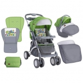 Bertoni Kolica Apollo Set Green & Grey Car