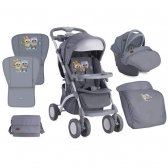 Bertoni Kolica Apollo Set Grey Baby Owls