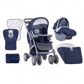 Bertoni Kolica Toledo Set Dark Blue Teddy Bear