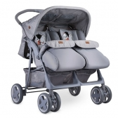 Bertoni Kolica za Blizance Twin Grey Cool Cat (2019) + torba
