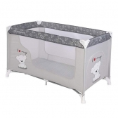 Bertoni prenosivi krevetac Moonlight 1 nivo Grey my teddy