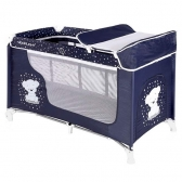Bertoni prenosivi krevetac Moonlight 2 nivoa Dark blue teddy bear