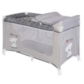Bertoni prenosivi krevetac Moonlight 2 nivoa Grey teddy