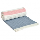 Ćebence za bebe Stripes - Light Blue Pink