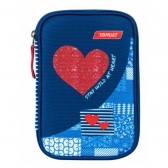 Target puna Pernica Multy Red Denim Heart 21842