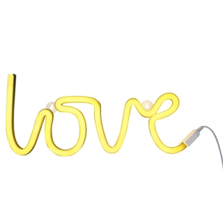 A Little Lovely Company Neonska lampa – Love Yellow