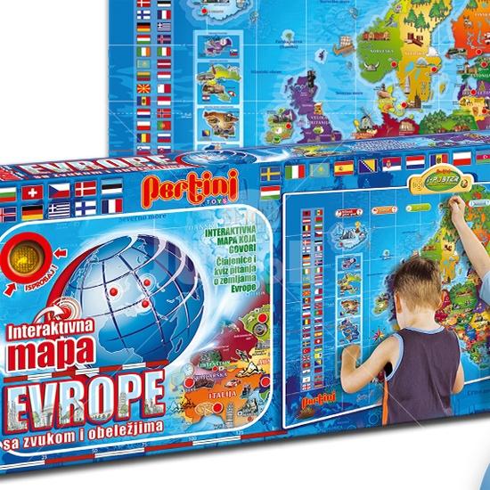 Juniorshop Rs Pertini Interaktivna Mapa Evrope P 0239 Edukativno